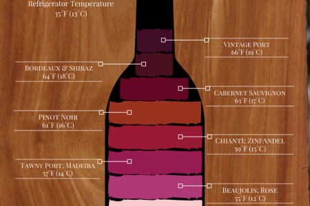 Wine Temperature Guide Infographic