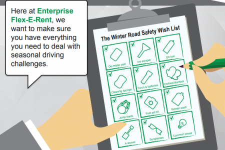 Winter driving safety infographic: stay safe on the roads this winter Infographic