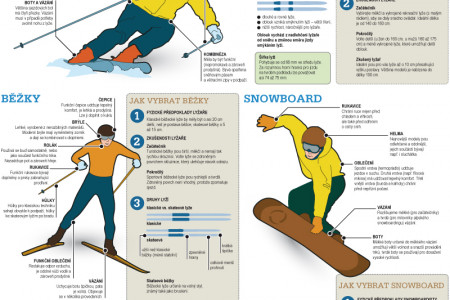 Winter sport equipment Infographic