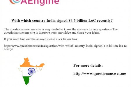 With which country India signed $4.5 billion LoC recently? Infographic
