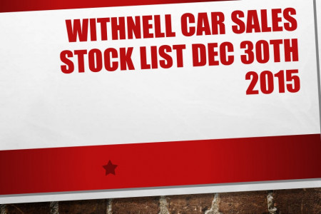 Withnell car sales stock 30th dec 2015 Infographic