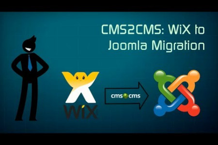 WiX to Joomla Migration with Ease Infographic