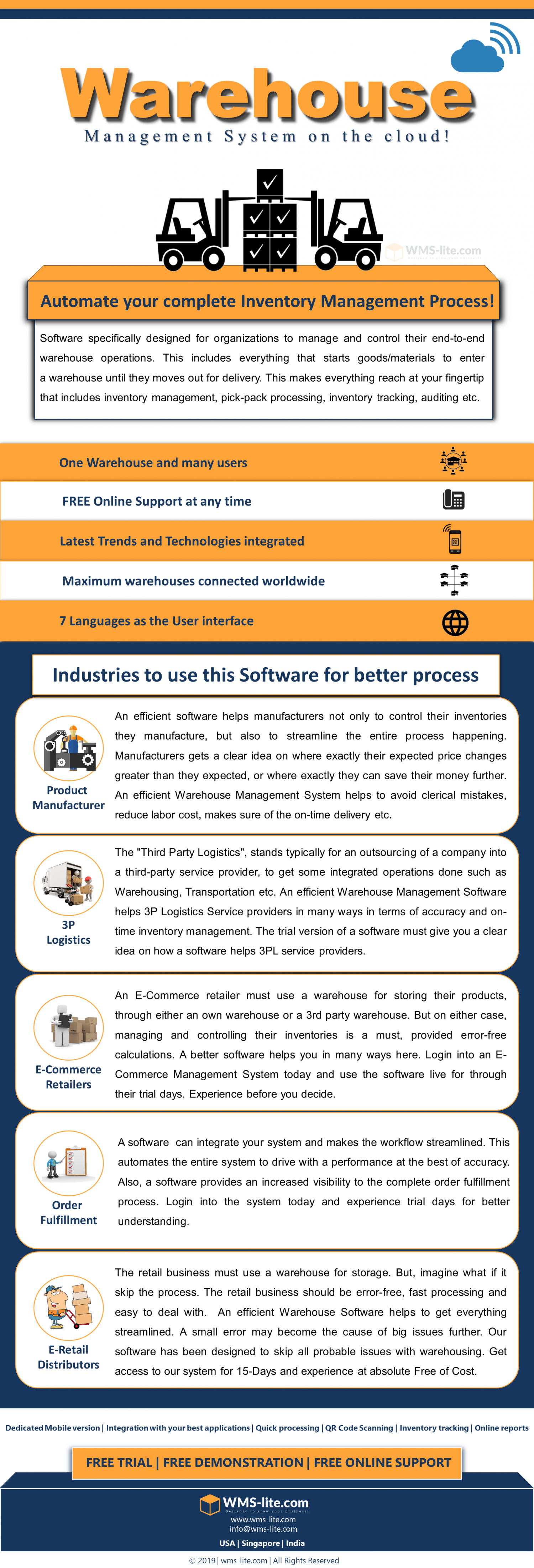 "WMS-lite.com to hit the most easiest Inventory Management Software version in 2019!  The ""Software Highlights"" Infographic"