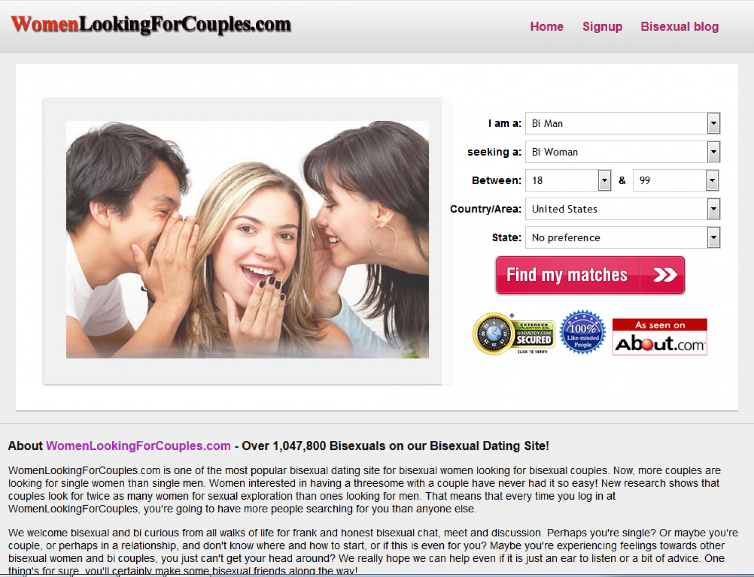 Women Looking For Couples Infographic