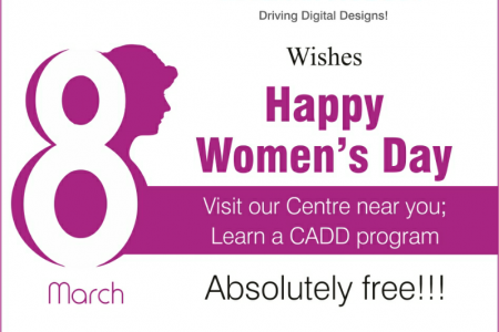 Women's Day wishes and offers from CADD Centre. Infographic