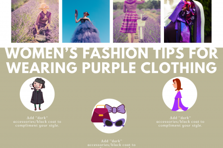 Women's Fashion Tips For Wearing Purple Clothing  Infographic