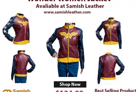Wonder Woman Stylish Jacket Infographic