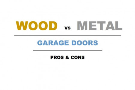 Wood vs Metal Garage Doors - Pros & Cons Infographic