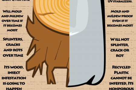 Wood vs. Recycled Plastic  Infographic