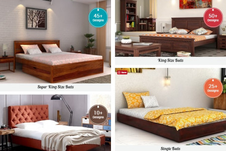 Wooden Beds Design Available in UK Infographic