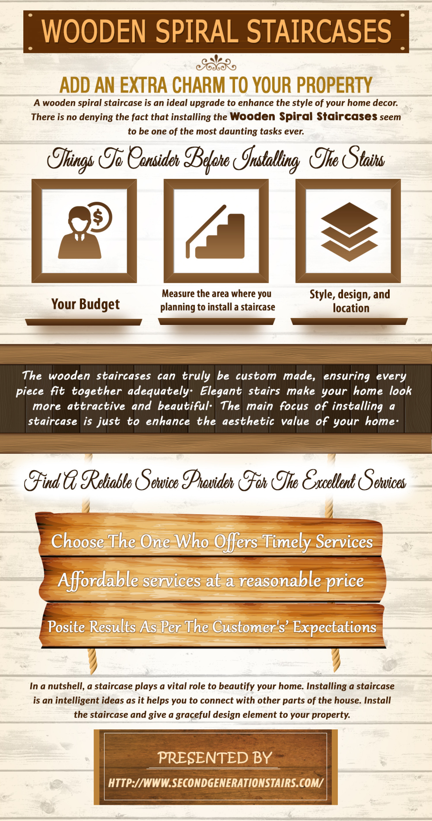Wooden Spiral Staircase add extra charm to your Property Infographic