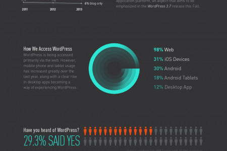 WordPress In 2013 Infographic
