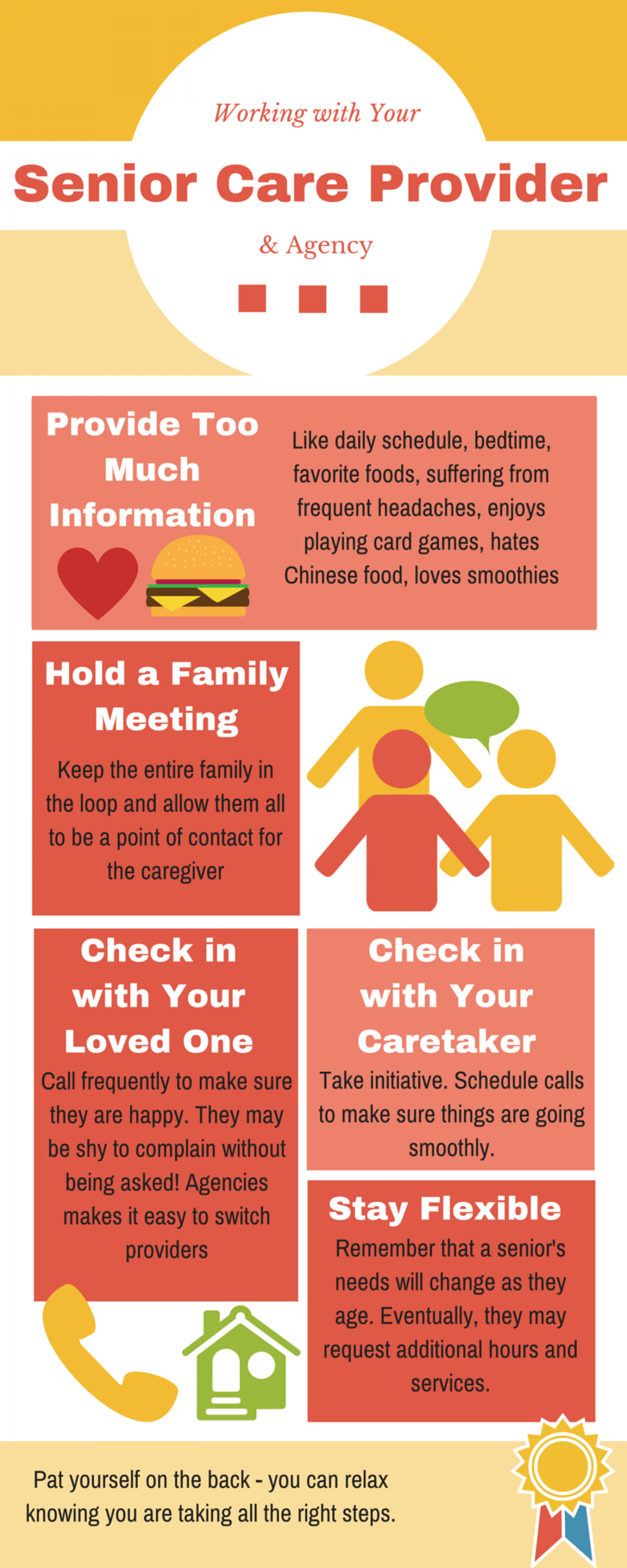 Working with Your Senior Care Provider & Agency Infographic