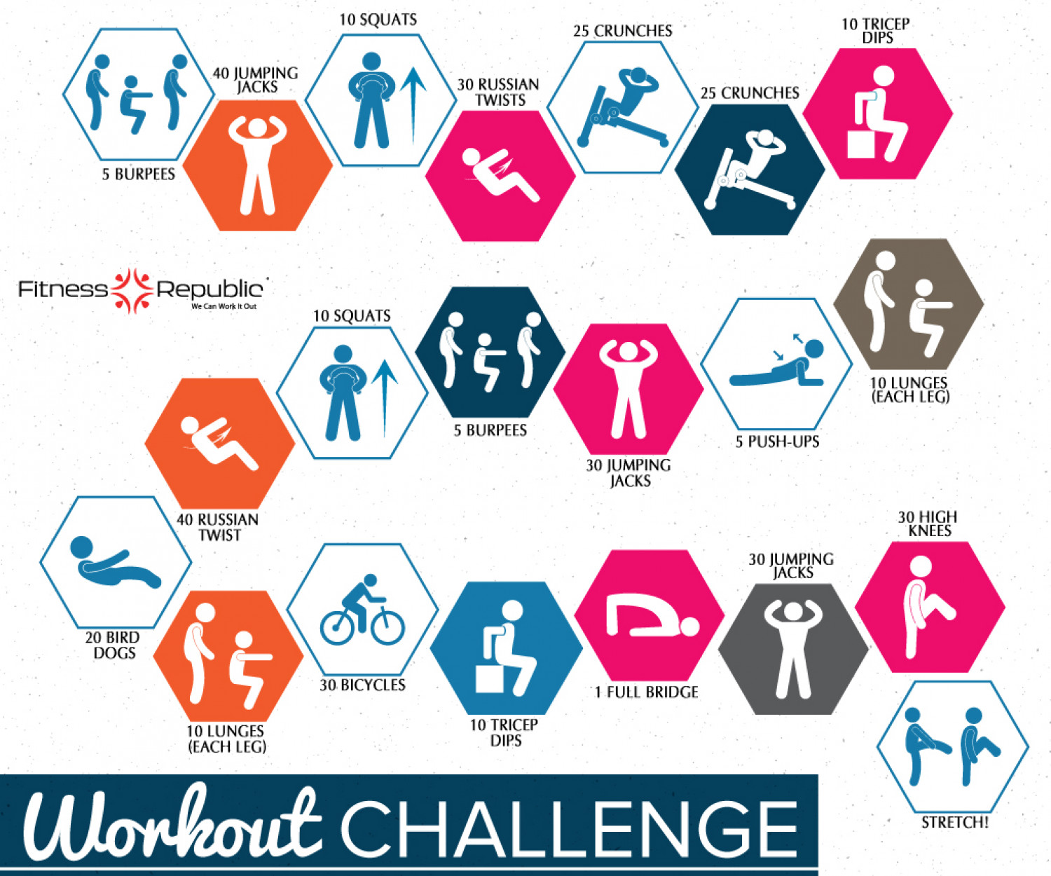 Workout Challenge Infographic