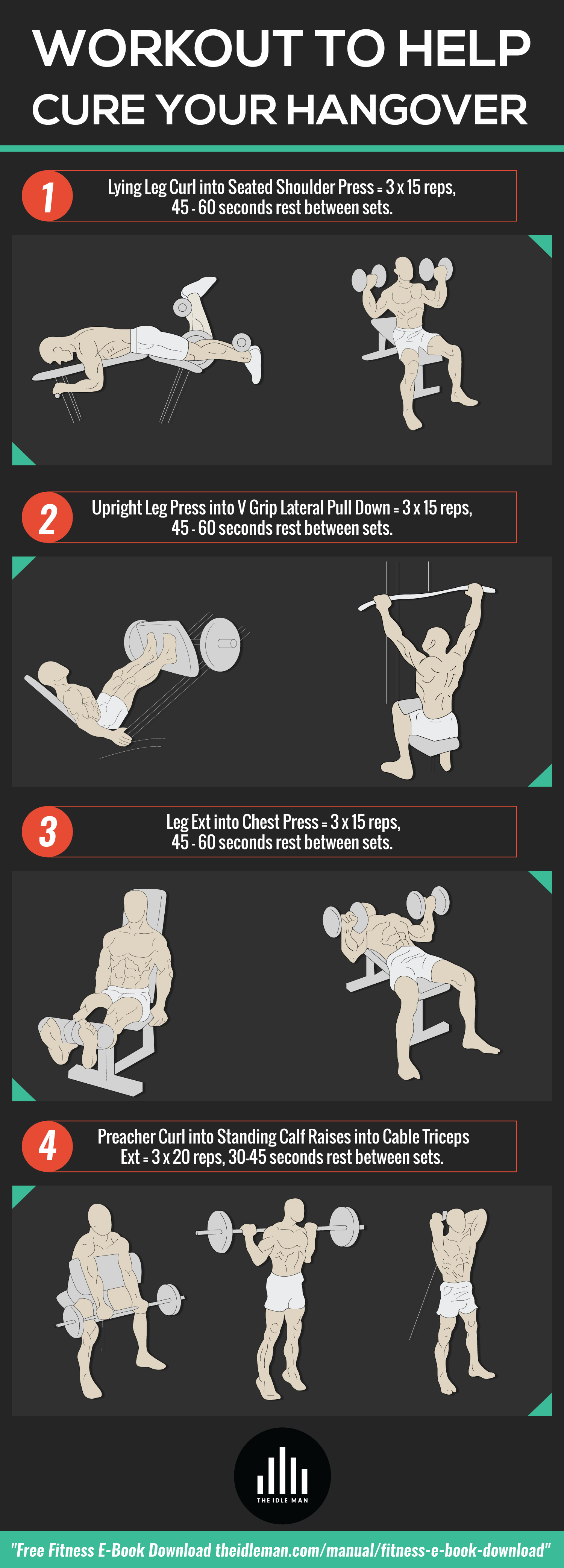 Workout To Help Cure Your Hangover Infographic