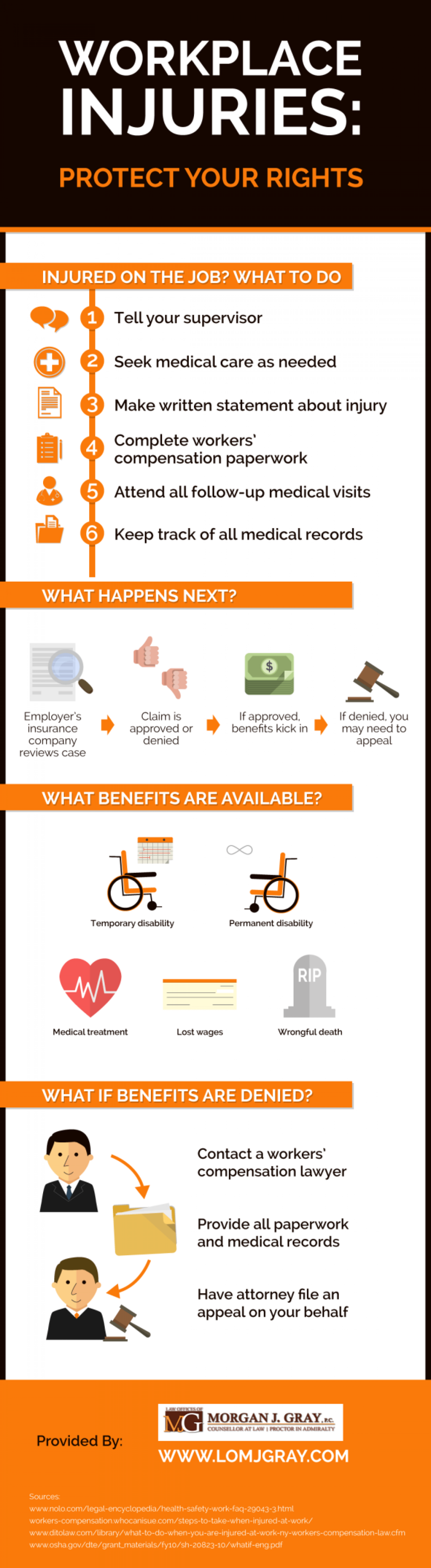 Workplace Injuries: Protect Your Rights Infographic