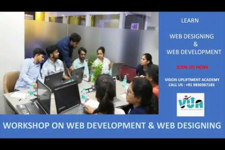 Workshop On Web Designing & Web Development Vision Upliftment Academy Infographic