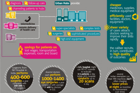 World class health care in India /at ultra low cost/ Infographic
