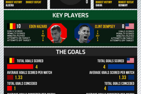 World Cup 2014 - Round of 16 - Belgium vs USA Infographic