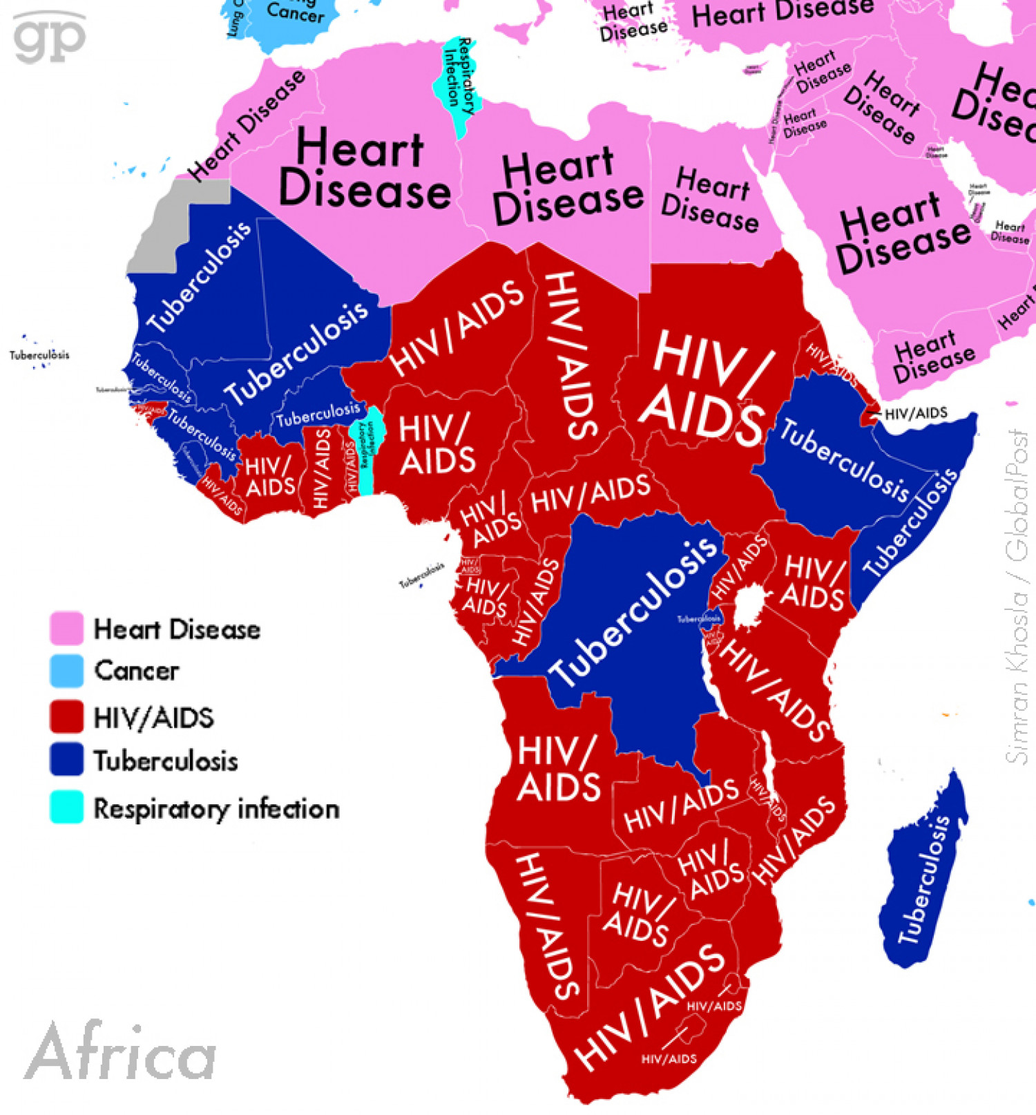 World Diseases (Africa) Infographic