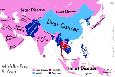 World Diseases (Middle East + Asia) Infographic