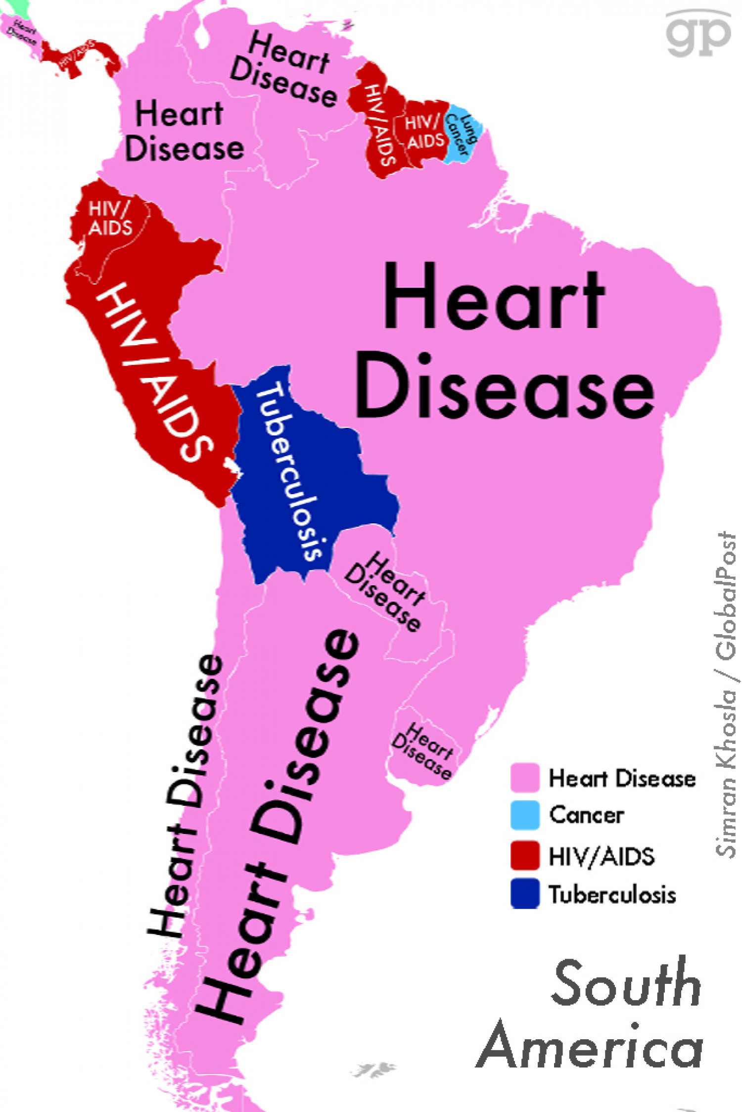 World Diseases (South America) Infographic