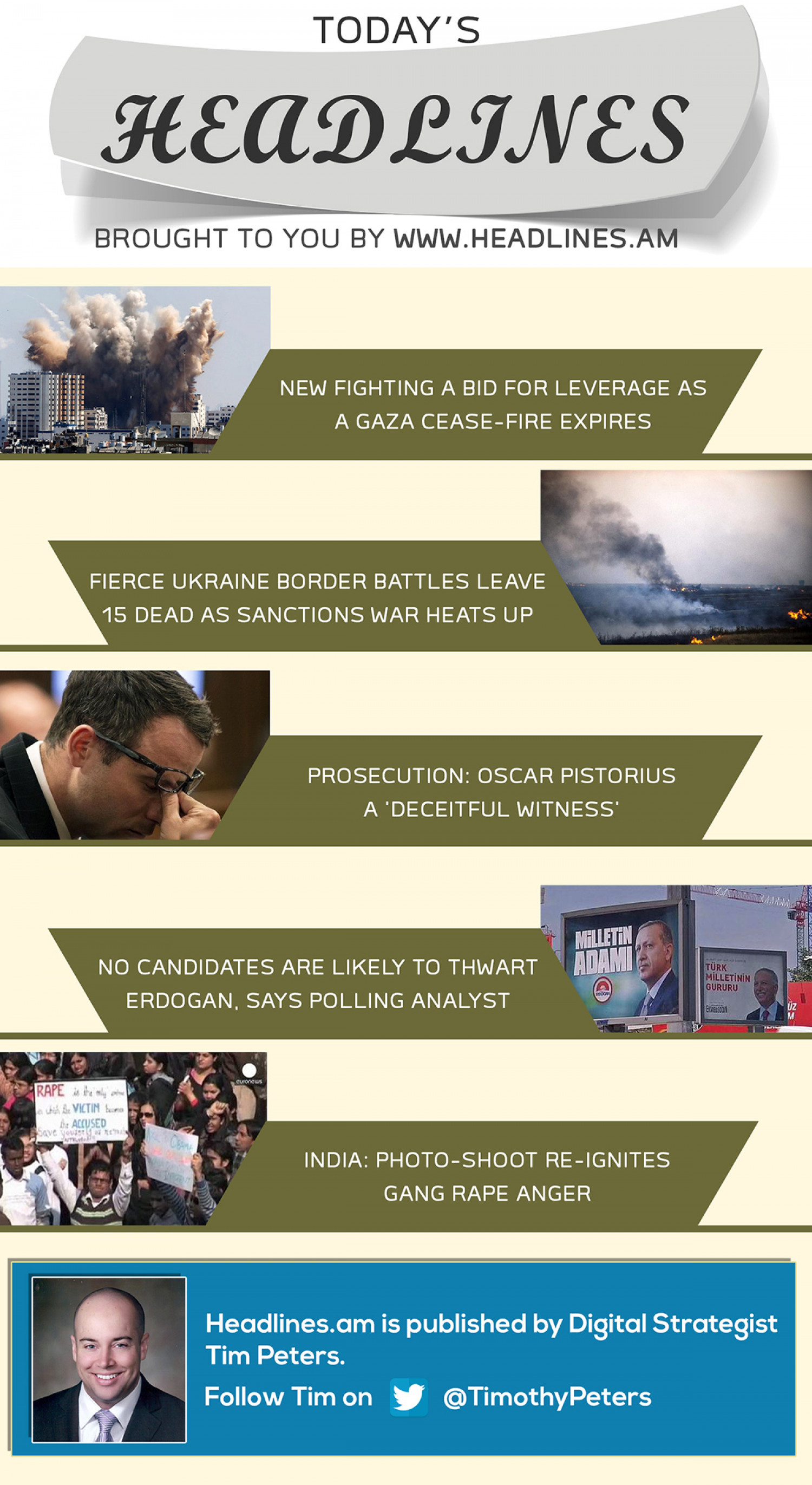 WORLD NEWS - AUGUST 9, 2014 Infographic