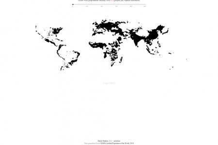 World Population Density Infographic