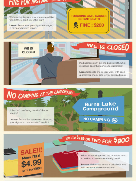 World's 5 Funniest Business Signs: And How to Avoid Being on This List Infographic