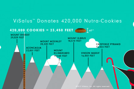 World's Largest Cookie Donation Infographic