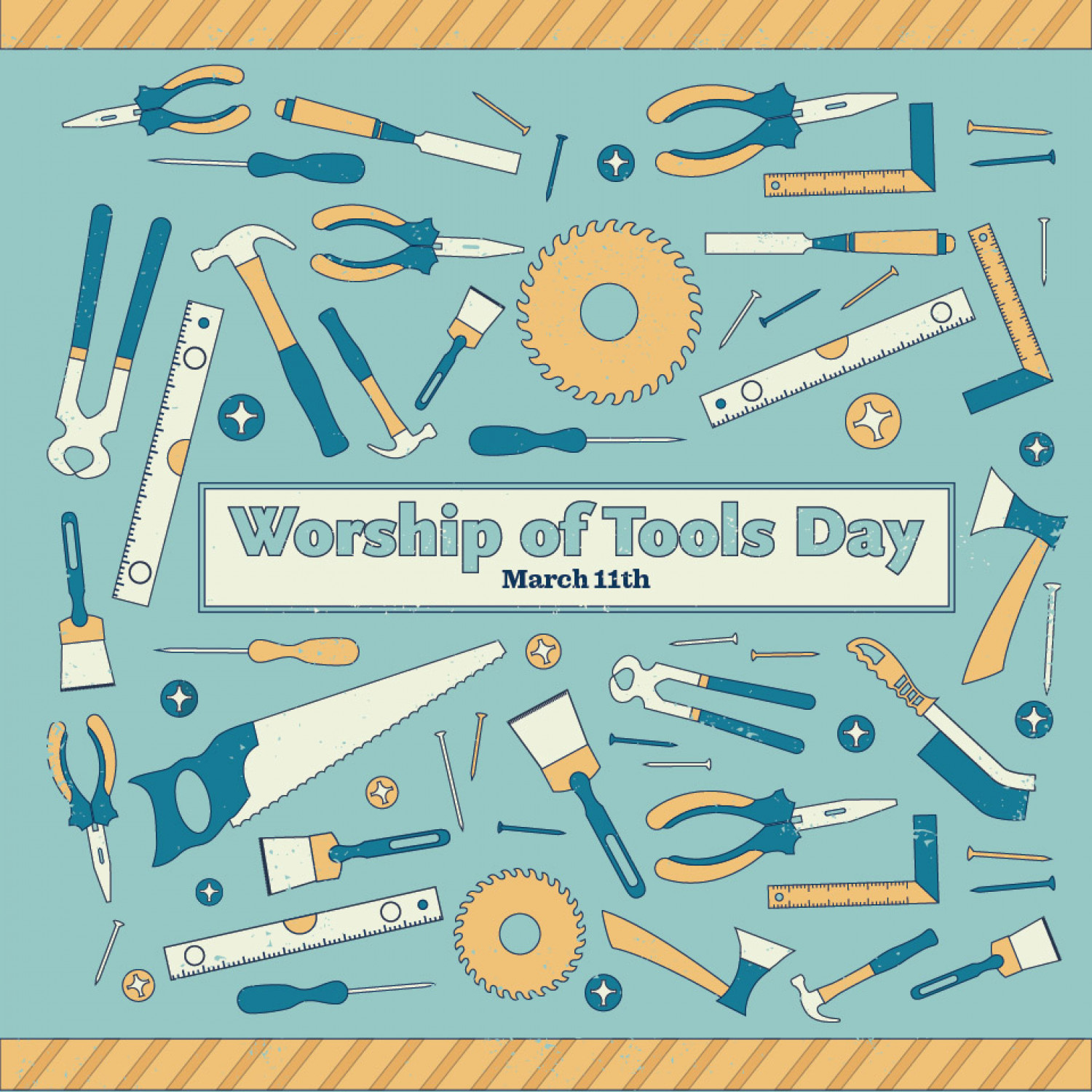 Worship of Tools Day Infographic