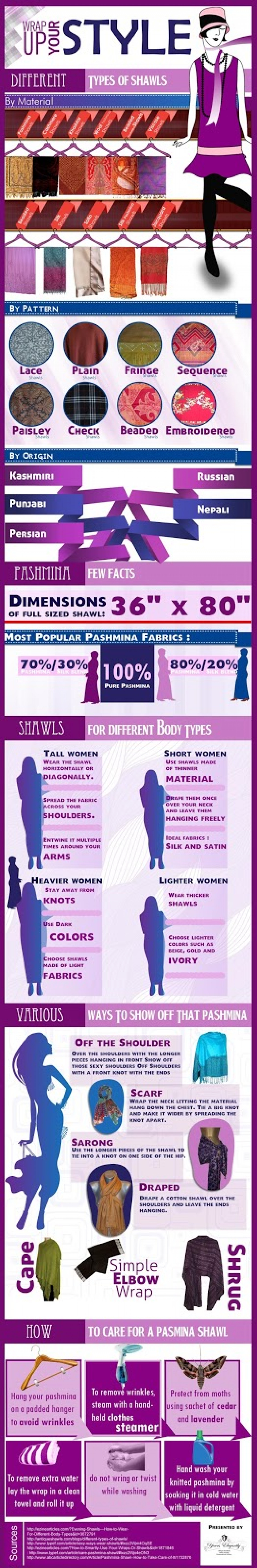 Wrap Up Your Style with Pashmina and Cashmere Shawls (infographic) Infographic