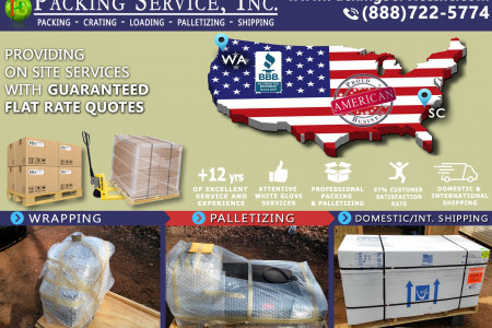 Wrapping and Palletizing Services Infographic
