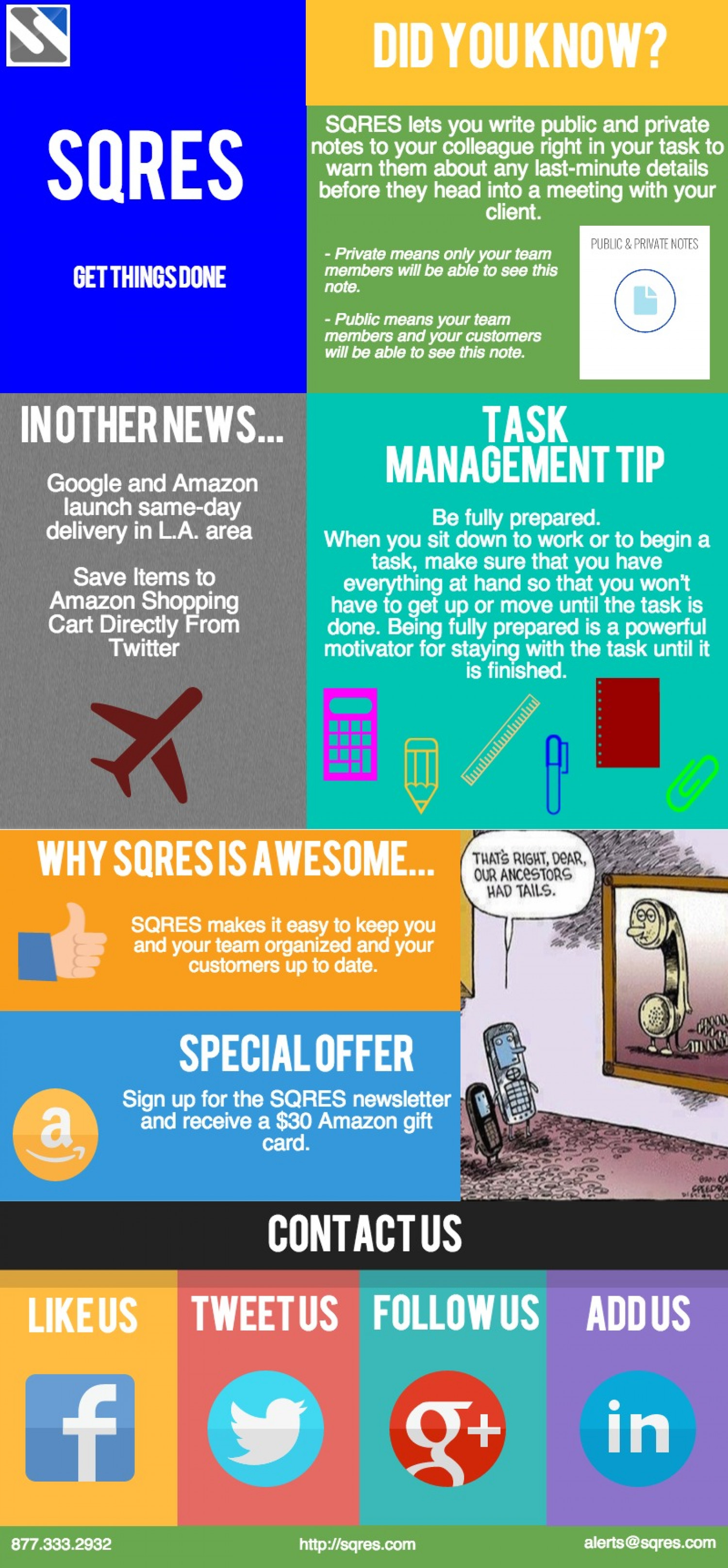 Write Notes to Your Team - SQRES Task Management Web App Infographic