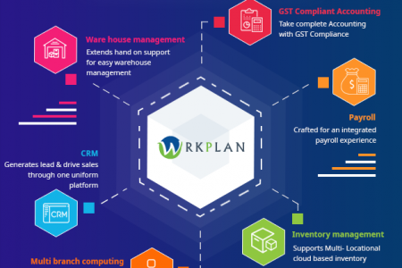 WrkPlan: Cloud ERP Solution Provider Infographic