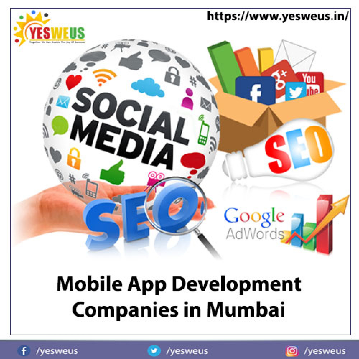 www.yesweus.in is the best mobile app development companies in Mumbai  Infographic