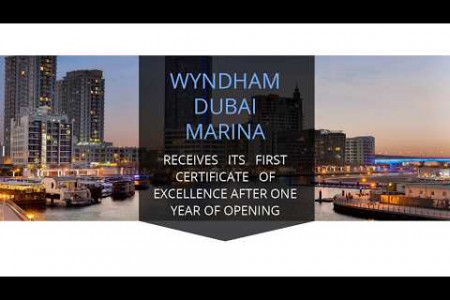 Wyndham Dubai Marina receives its first Certificate of Excellence after one year of opening Infographic