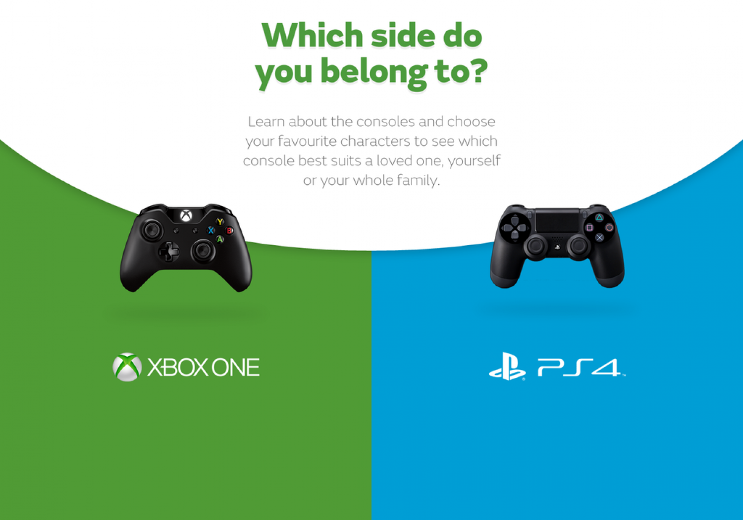 Xbox One vs PlayStation 4 - Choose Your Side Infographic