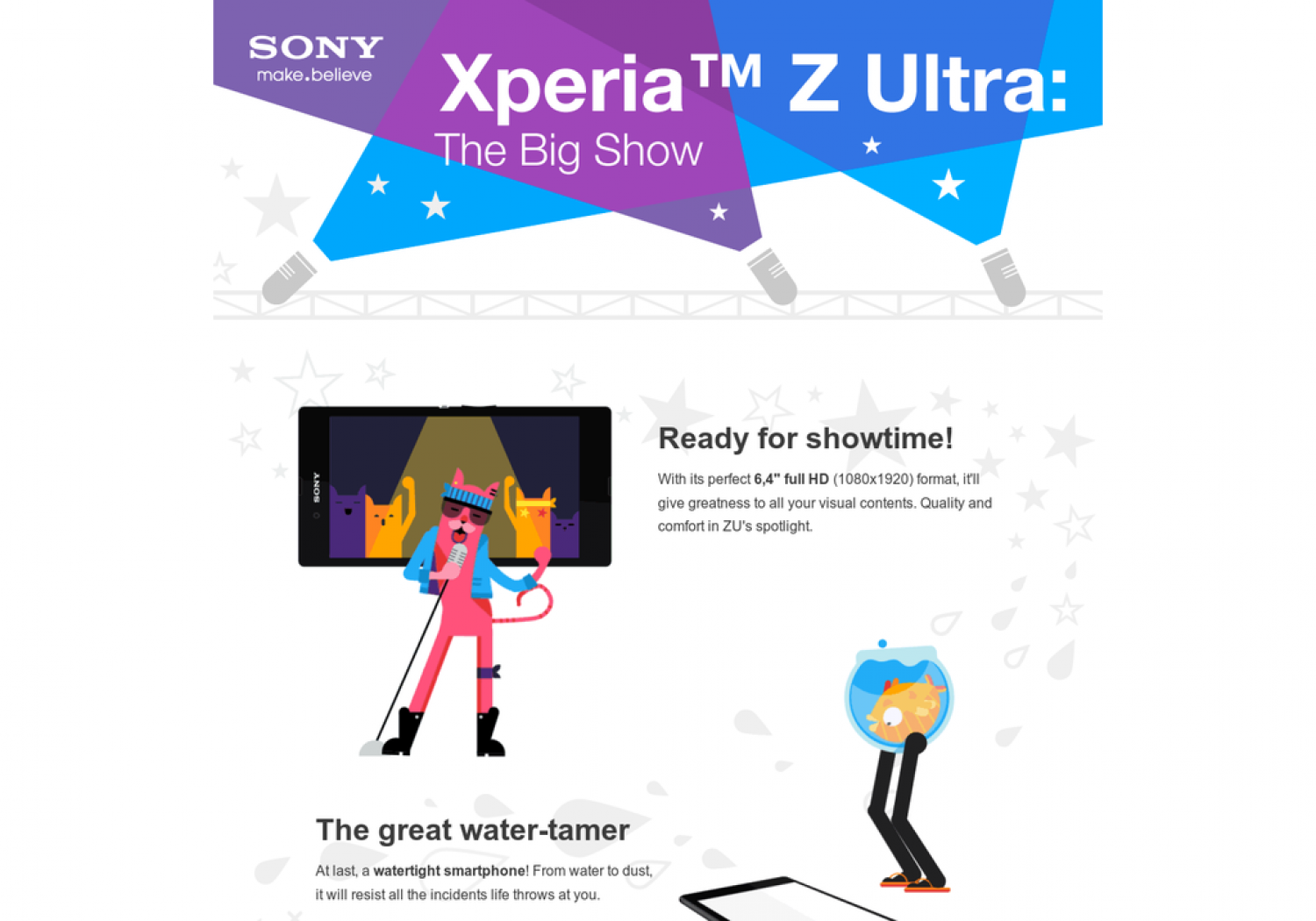 Xperia Z Ultra: The Big Show Infographic