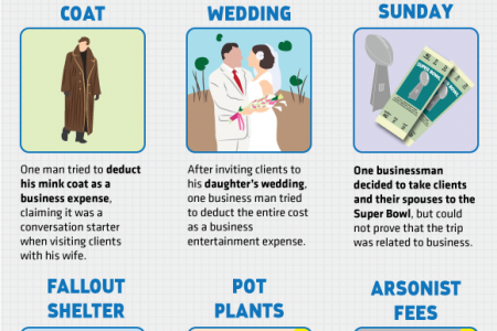 Devious Deductions And Eccentric Tax Evaders Infographic
