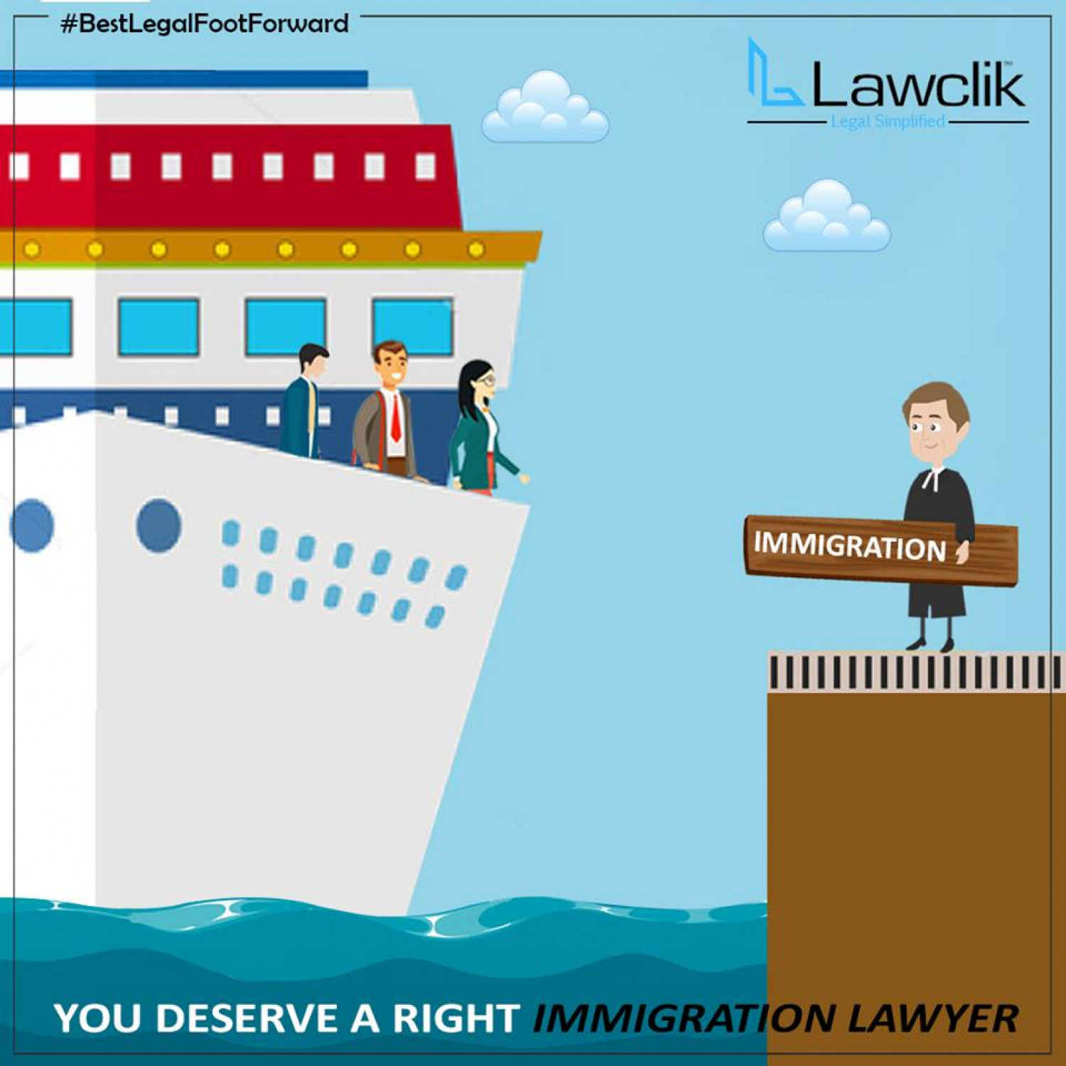You deserve a Right immigration Lawyer Infographic