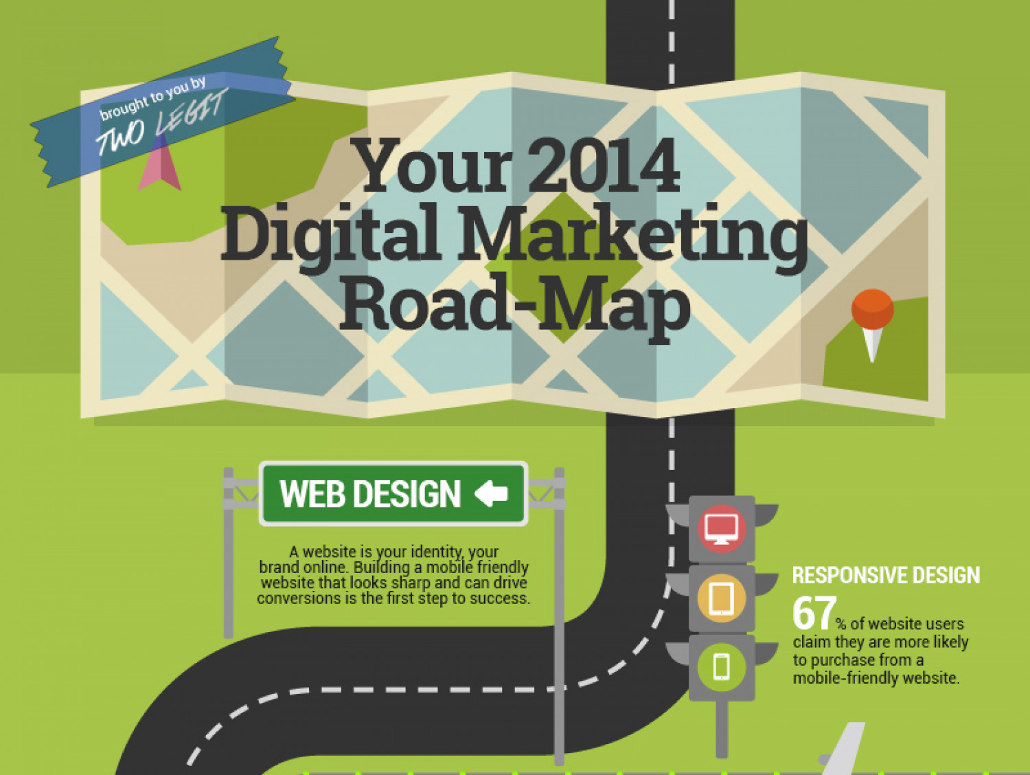 Your 2014 Digital Marketing Road-Map | Visual.ly Digital Road Maps on