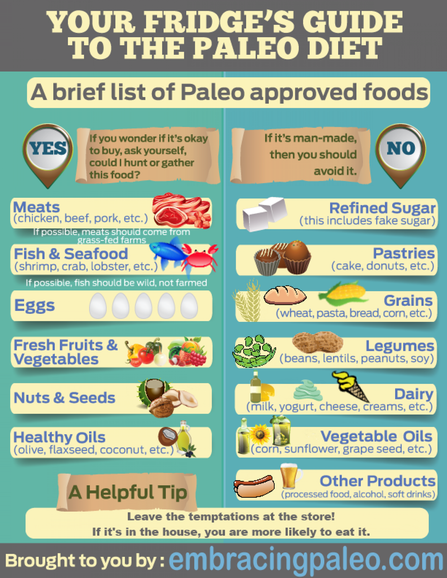 Your Fridge's Guide to the Paleo Diet Infographic