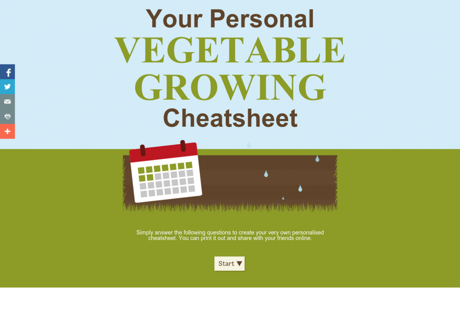 Your Personal Vegetable Growing Cheatsheet Infographic