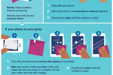 Your Phone Is Super Gross: Here's how to clean it Infographic