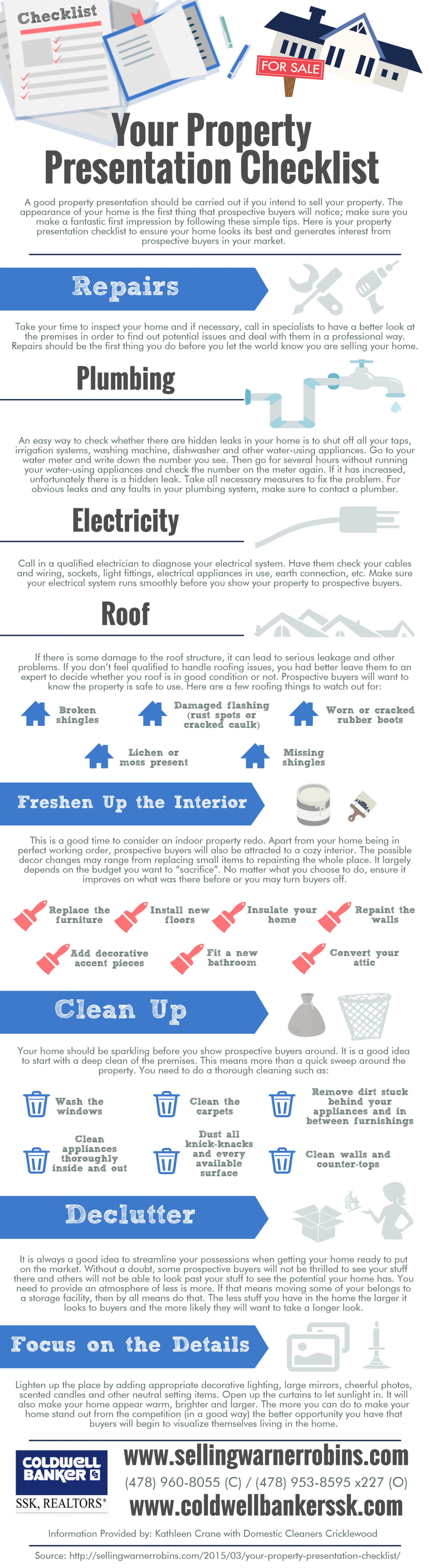 Your Property Presentation Checklist Infographic