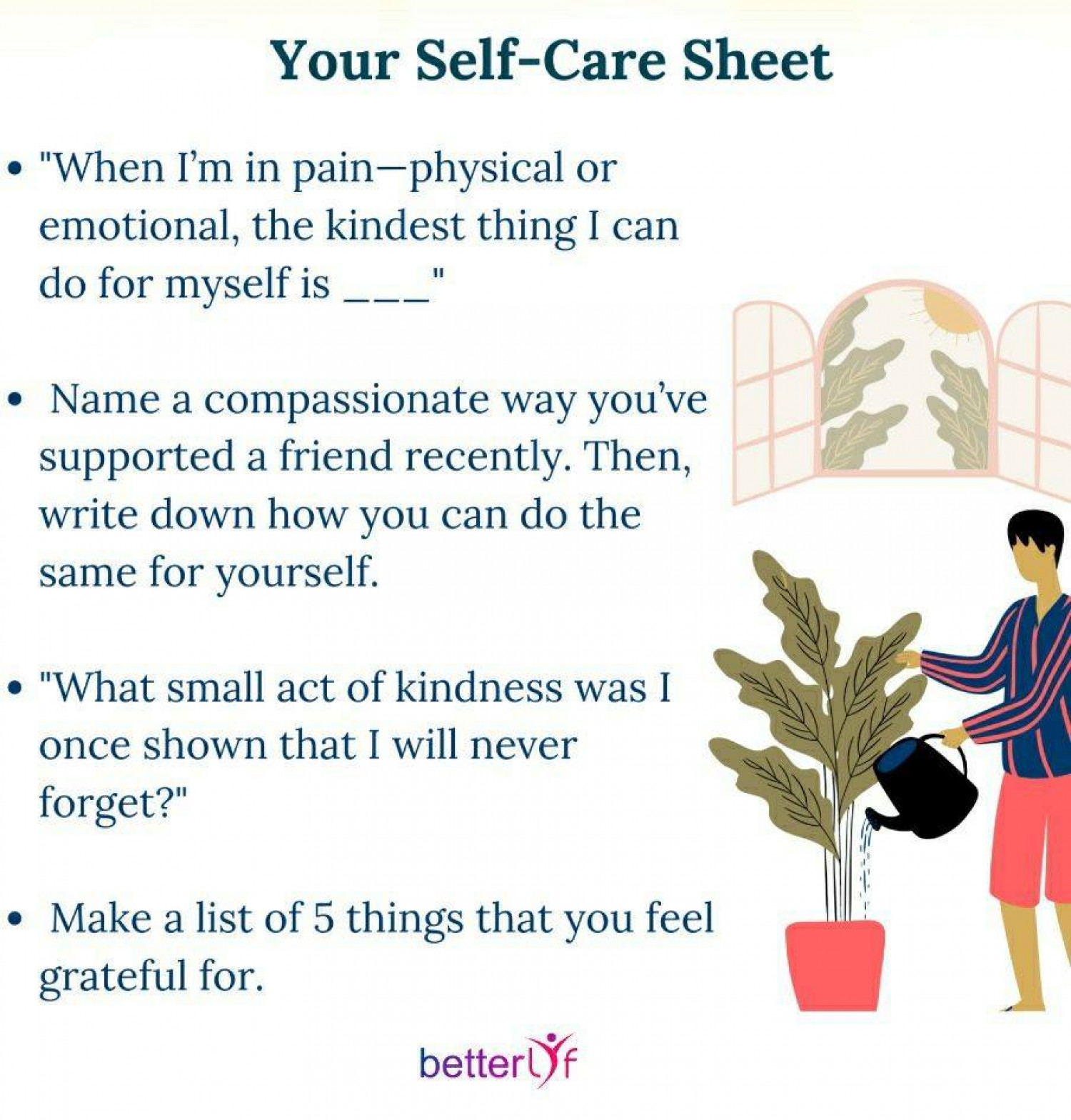 Your Self-Care Sheet Infographic