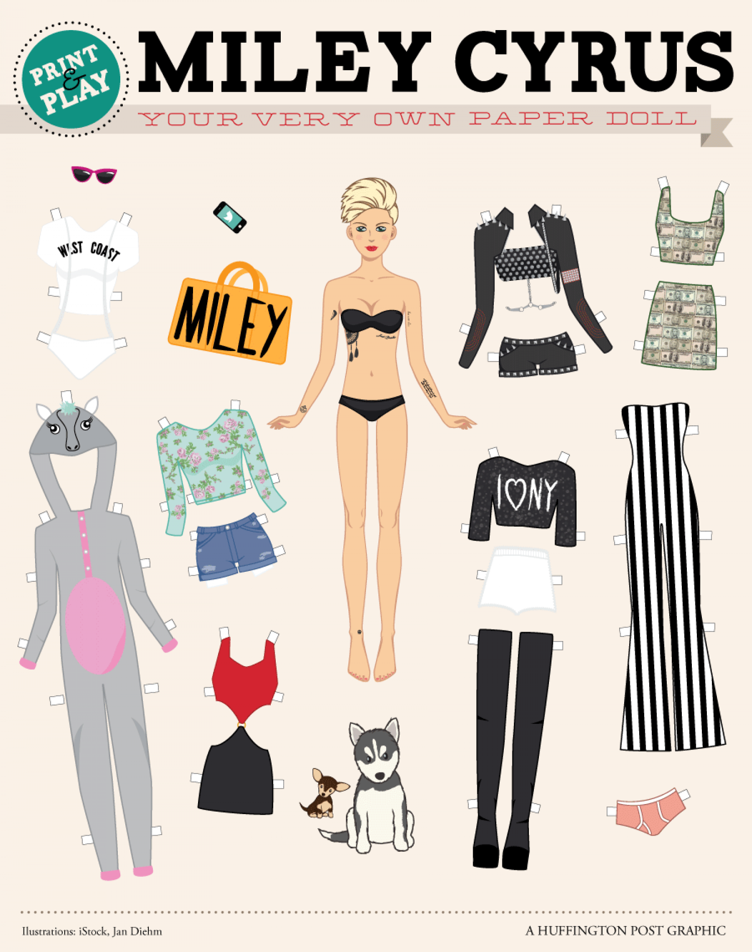Your Very Own Paper Doll Miley Cyrus Infographic