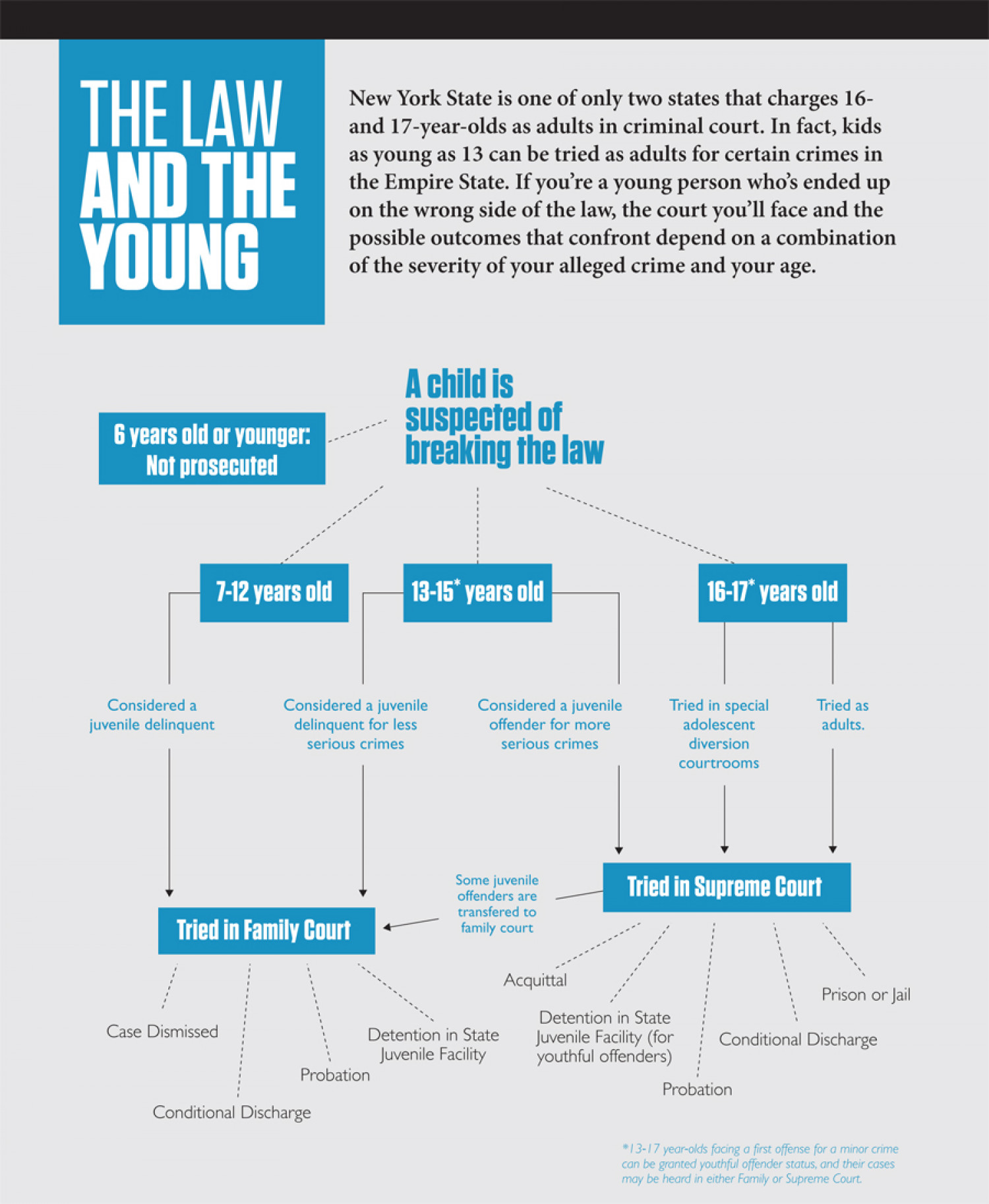 Youth and New York State Criminal Court Infographic