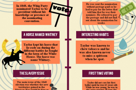Zachary Taylor, 12th President of the United States(1849-1850) Infographic